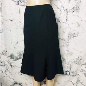 Style & Co Cozy Luxe Trumpet Skirt Black NEW